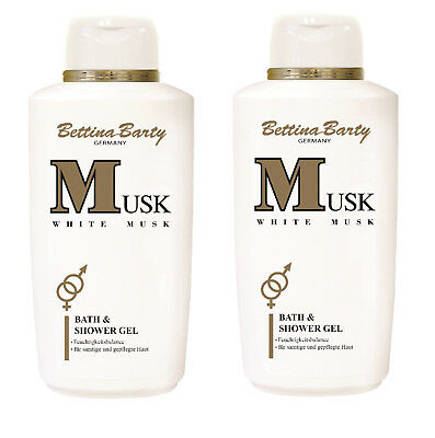 Bettina Barty White MUSK Bath & Shower Gel Duschen 2 x 500ml Sparpack
