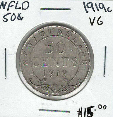 Canada Newfoundland NFLD 1919c 50 Cents VG Lot#3