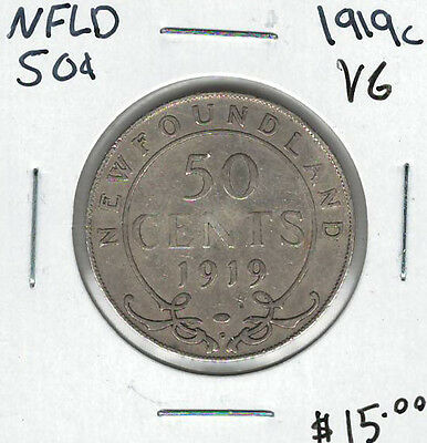 Canada Newfoundland NFLD 1919c 50 Cents VG Lot#4