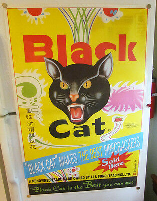 Black Cat Makes The Best Firecrackers Fireworks Large Store Display Poster