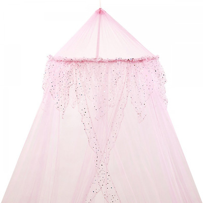 Princess Bed Canopy - Childrens Kids Bed Canopy in Pink - Perfect Gift for Girls