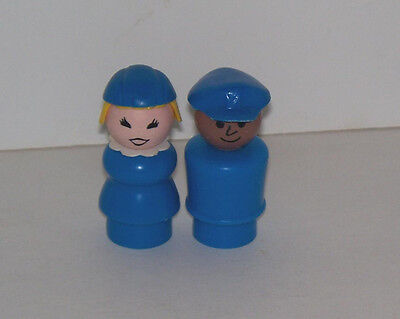 1987 #2502 Airport Stewardess and Pilot Little People by Fisher Price #2