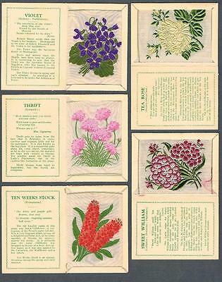 1934 J. Wix & Sons Large Kensitas Flowers Tobacco Cards Complete Set of 60