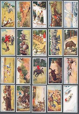 1912 Taddy & Co. Sports & Pastimes Tobacco Cards Complete Set of 25