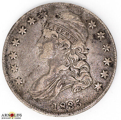 1835 Capped Bust Half Dollar Toned Ch VF Condition