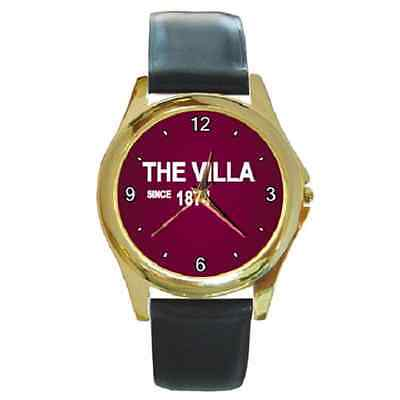 **new* The Villa Since 1874 Aston Villa Round Wristwatch **great Item**