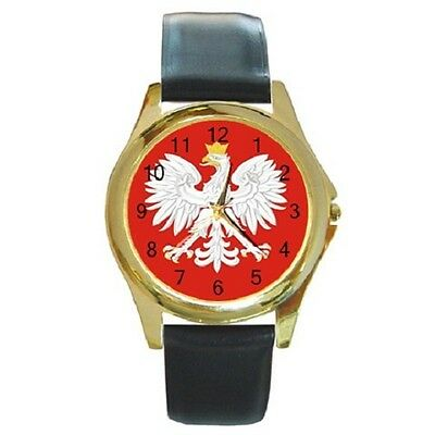 Poland Polish Polska Eagle Flag Round Wristwatch **great Item**