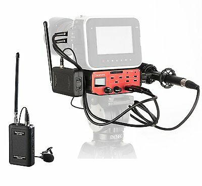 Saramonic BMCC Audio Kit: Shotgun Microphone, VHF Wireless Lavalier & 2-CH Mixer