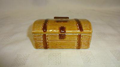 Collectable Wade Treasure Chest / Trunk - Lidded Trinket Pot