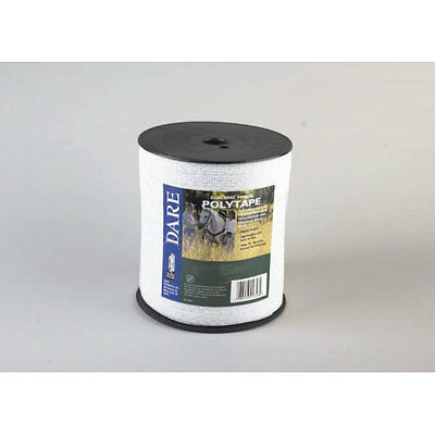 "Dare White Electric Fence Wire Heavy Duty 11/2"" x 656' Polytape 2576"