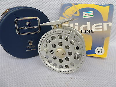Made In England Mk1 Hardy Angel #4/5 Fly Fishing Reel + Case & New Line.