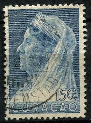 Curacao 1936-9 SG#163, 15c Blue Queen Wilhelmina Used #D43884