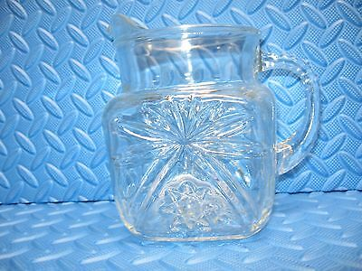 Anchor Hocking Star of David Square pitcher