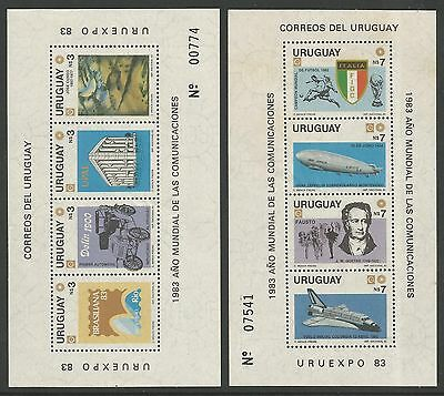 "URUGUAY. 1983. ""URUEXPO 83"" Stamp Exhibition. Restricted Issue Miniature Sheets."