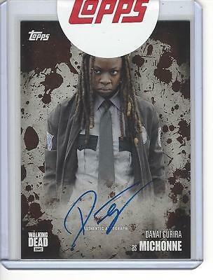 Walking Dead Season 5 Danai Gurira (Michonne) Autograph Mud 23/50