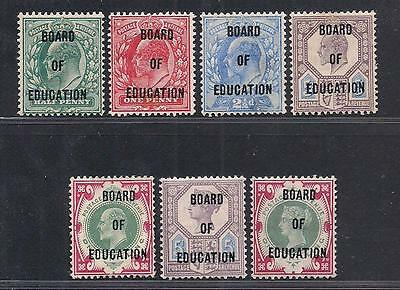 GB Great Britain Stamps Board of Education 1902 Sg O81-O87 MLH Forgeries