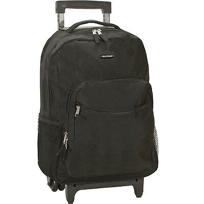"""Rockland Luggage Roadster 17"""" Rolling Backpack 19 Colors"""