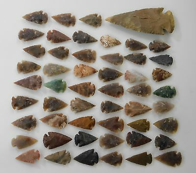 Flint Stone Arrowhead Collection Spearhead Lot Of Bow Arrow Points Bow Hunting