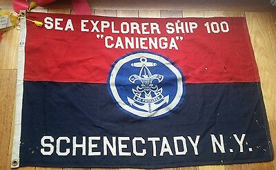 "Boy Scout  Flag  2 x 3' Sea Explorer   ""Canienga"" Troop 100 Schenectady  NY"