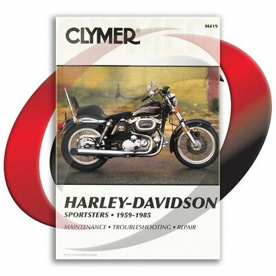 1973-1977 Harley Davidson XL Sportster Repair Manual Clymer M419 Service Shop