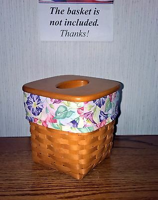 Tall Tissue Basket Liner from Longaberger Morning Glory fabric.  New & Crisp