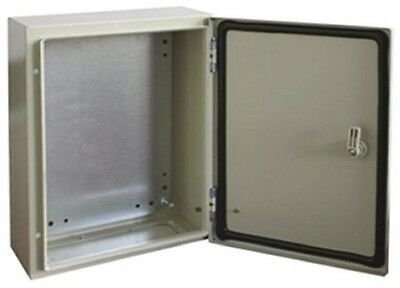 RS Pro, IP66 Electrical Wall Mounting Cabinet Box, Steel, Grey, 300x250x150mm