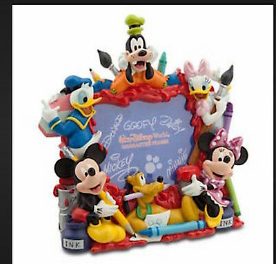 Disney Parks Mickey Mouse and Pals  Paint Crayon Ink Art Character Photo Frame