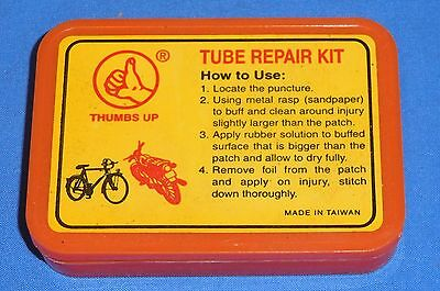 New in Box Puncture Tube Repair Kit Bike Tyre Bicycle Compact Rubber Glue Patch
