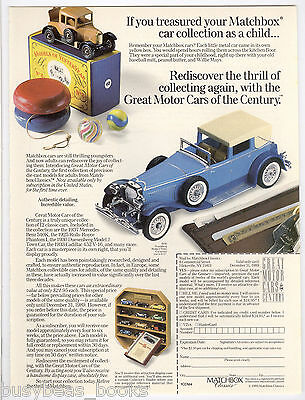 1990 MATCHBOX advertisement, MATCHBOX Classics Collection of Toy cars