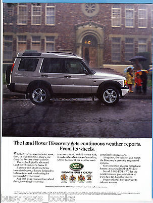 2000 LAND ROVER DISCOVERY advertisement, Rover in the rain