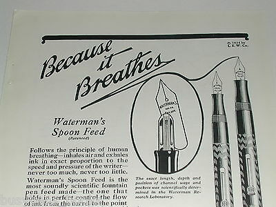 1924 Watermans Fountain Pen advertisement, Models No. 52 & 55