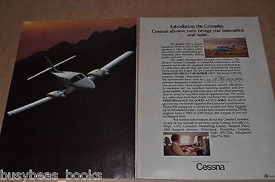 1982 Cessna 2-page advertisement, CESSNA Crusader business plane full-page photo