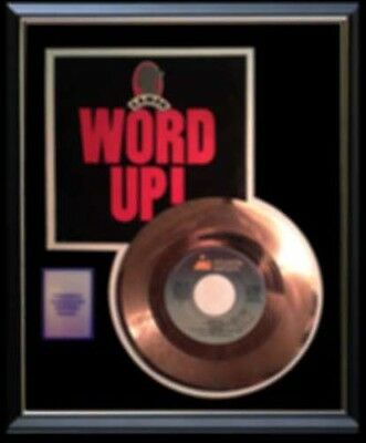 Cameo Word Up  Rare Gold Record Disc Rare !