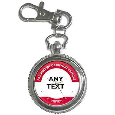 Bus Driver Badge Personalised Keychain Watch **any Name/text**perfect Gift