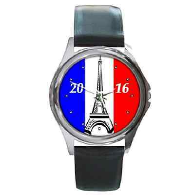 **new** Euro 2016 France Germany Wales Russia Swiss Wristwatch - Great Gift Item