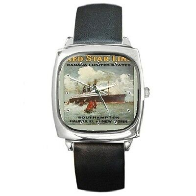 Red Star Line To Canada & United States Vintage Advert  Square Watch **new**