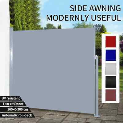 Wall Side Awning 160x300/180x300cm Patio Sun Shade Screen Multi colour