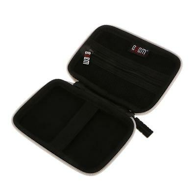 """Mini Pocket EVA Hard Carrying Case Pouch for External 2.5"""" Hard Drive Silver"""