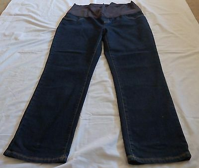 Ladies size 18  MATERNITY Blue denim  jeans  BUB2B  over belly .