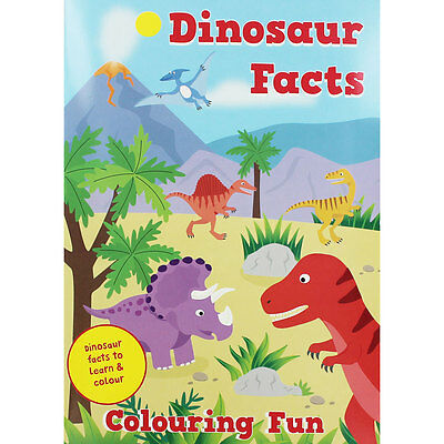 Dinosaur Facts Colouring Fun (Paperback), Children's Books, Brand New