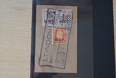 Italian Colonies Stamps. GVI M.E.F. O/PRINT ISSUES ON PIECE.