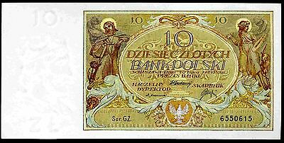 Poland. Ten Zloty, GZ 6550615, 20-7-1929, Almost Uncirculated.