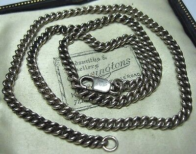 """Vintage Solid Sterling Silver 925 Curb Chain 39.5cm 15.5"""" JEWELLERY NECKLACE 14g"""