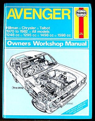 AVENGER Hillman Chrysler Talbot Haynes Workshop Manual 1970-82, Plymouth Cricket