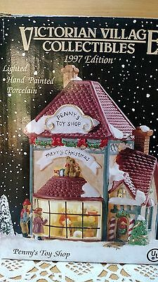 Victorian Village Collectible  Lighted PENNY'S TOY SHOP, 1997 Edition, BRAND NEW