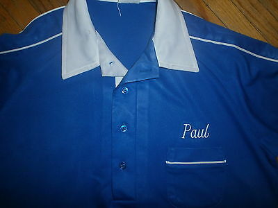 vtg KING LOUIE BOWLING SHIRT Name PAUL Rainbow Restaurant Catering 70s 80s Polo