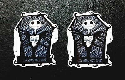 2 x NIGHTMARE BEFORE CHRISTMAS JACK LASER CUT 54mm x 43mm RESIN FLATBACKS