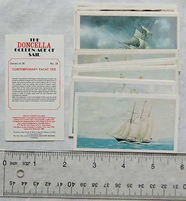 Set of 24 Players Doncella Golden Age of Sail cards