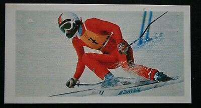 Skiing  Rosi Mittermaier  Downhill & Slalom   Colour Action Card ### VGC