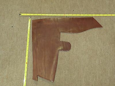BROWN VEG TAN BUTT LEATHER  OFF CUT 7 mm THICK EX KINGS TROOP SADDLE LEATHER